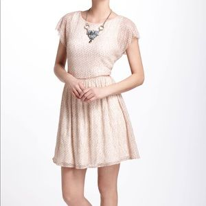 ANTHROPOLOGIE Weston Wear Frothed Dots Dress S